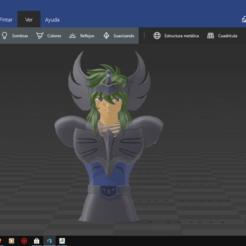 Captura de pantalla (4).png Download OBJ file black swan saint seiya • 3D printable design, cewoner