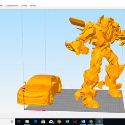 Download free 3D printing files TRANSFORMER MUSTANG, cewoner
