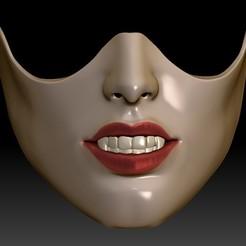 Femmask1d.jpg Download STL file Female masks • 3D printer model, 3rdesignworks