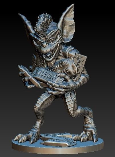 Gremlin1d.jpg Download free STL file Stripe Gremlin • 3D printer model, 3rdesignworks