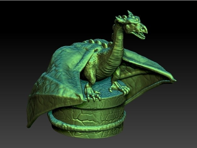 462cac296af15530d17dfe93b721b9df_preview_featured.jpg Download free STL file Dragon Bottle Stopper • Template to 3D print, 3rdesignworks