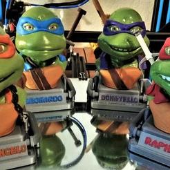 50788739_288552198497491_441375986370478080_n.jpg Download STL file Teenage Mutant Ninja Turtles • 3D printing object, 3rdesignworks