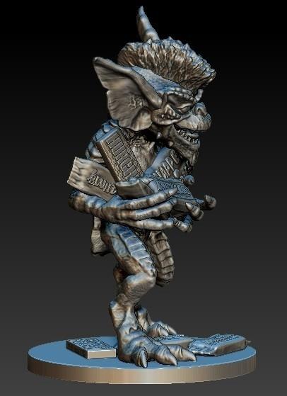 Gremlin1a.jpg Download free STL file Stripe Gremlin • 3D printer model, 3rdesignworks
