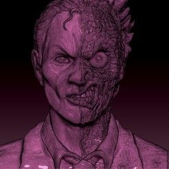 twoface2.jpg Download STL file Two Face • 3D printable template, 3rdesignworks