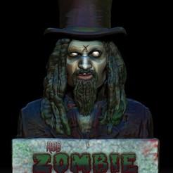 Zombie1.jpg Download STL file Rob Zombie • 3D printing object, 3rdesignworks