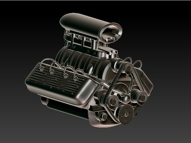 667c5e87305003ab6a154a340dad6b05_preview_featured.jpg Download free STL file Flathead V8 Engine • 3D printing object, 3rdesignworks