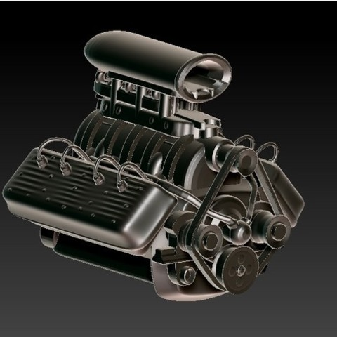 Download free STL Flathead V8 Engine, 3rdesignworks