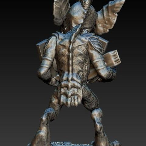 Gremlin1b.jpg Download free STL file Stripe Gremlin • 3D printer model, 3rdesignworks