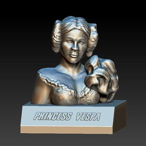 Vespa.jpg Télécharger fichier OBJ gratuit Spaceballs - Princess Vespa • Objet pour imprimante 3D, 3rdesignworks