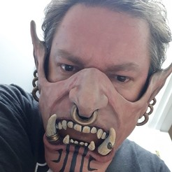 ogremasak2.jpg Télécharger fichier OBJ Demi-masque de l'ogre hurleur de l'enfer avec filtre • Plan pour imprimante 3D, 3rdesignworks