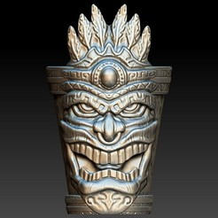 tiki_shotglass1.jpg Download OBJ file Tiki Shotglass • 3D print design, 3rdesignworks