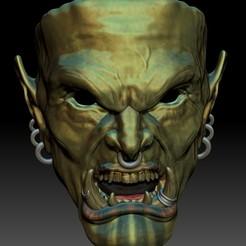 Grommish2.jpg Télécharger fichier STL Le masque de l'ogre hurleur de l'enfer est plein • Objet pour imprimante 3D, 3rdesignworks