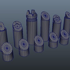 Download free 3D model Simple Chess Set, Patenaude