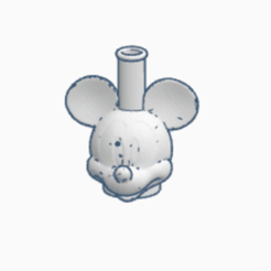 MICKEY.png Download STL file SHISHA MICKEY MOUSE MOUTHPIECE • 3D printing model, Smoker_3D