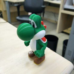 Free Yoshi from Mario games - Multi-color STL file, bpitanga