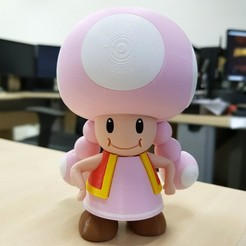 Free 3D printer designs Toadette from Mario games - Multi-color, bpitanga