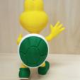 Descargar archivos STL gratis Koopa troopa verde (Postura de saludo) de los juegos de Mario - Multi-color, bpitanga