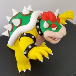 Download free STL file Bowser from Mario games - Multi-color, bpitanga