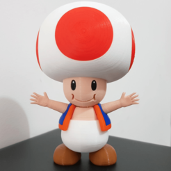 Free Toad from Mario games - Multi-color STL file, bpitanga