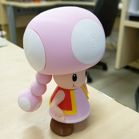 03.jpg Download free STL file Toadette from Mario games - Multi-color • 3D printing design, bpitanga