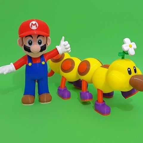 4efdd2f969559e8b1c92e99f32ded48e_preview_featured.jpg Download free STL file Wiggler from Mario games - multi-color • Template to 3D print, bpitanga