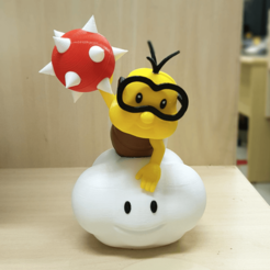 Free 3D printer designs Lakitu from Mario games - Multi-color, bpitanga