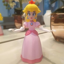 Download free 3D printer designs Princess Peach from Mario games - multi-color, bpitanga