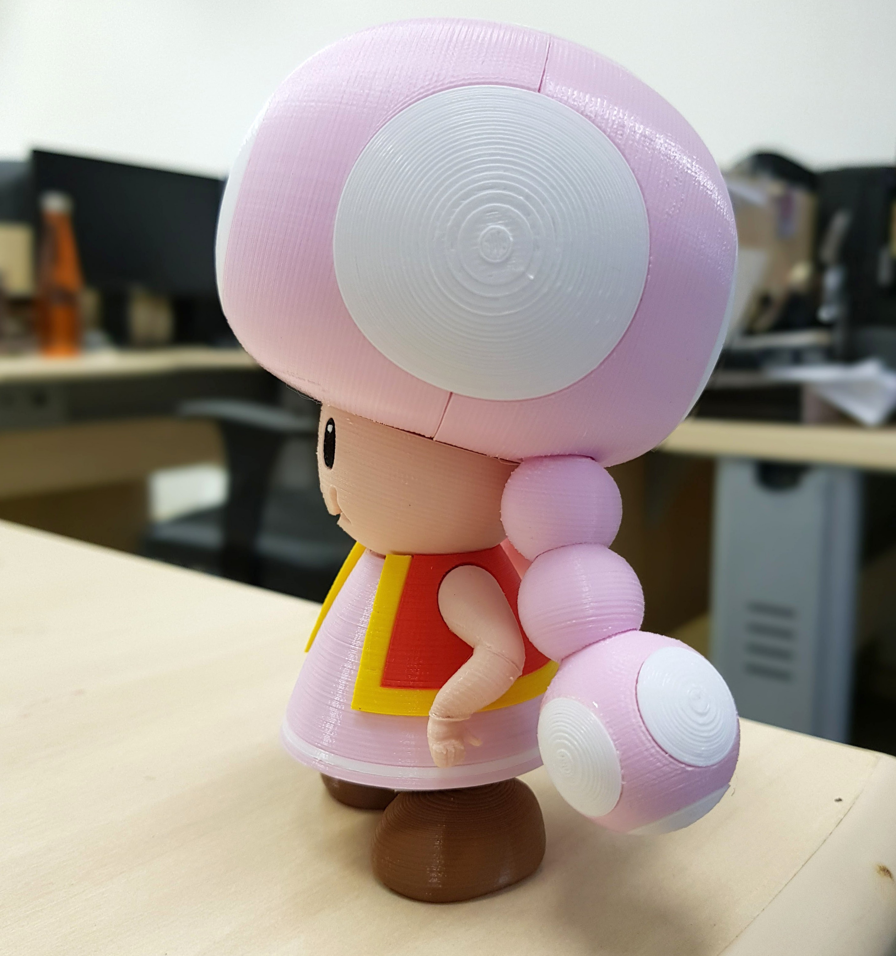 02.jpg Download free STL file Toadette from Mario games - Multi-color • 3D printing design, bpitanga