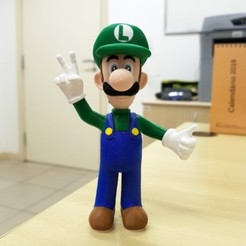 Free 3D printer designs Luigi from Mario games - Multi-color, bpitanga