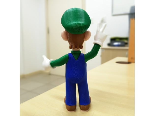 fac4ef5554f69012fe38d2f1d4e245a6_preview_featured.jpg Download free STL file Luigi from Mario games - Multi-color • 3D printing design, bpitanga