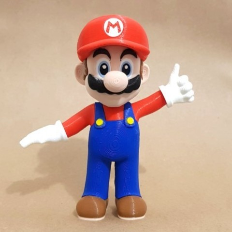4efdd2f969559e8b1c92e99f32ded48e_preview_featured.jpg Download free STL file Mario from Mario games - Multi-color • 3D print design, bpitanga