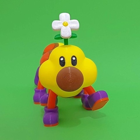f99687dd719c4e8bc6a39e946c3d9ef7_preview_featured.jpg Download free STL file Wiggler from Mario games - multi-color • Template to 3D print, bpitanga