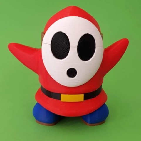 Imprimir en 3D gratis Shy Guy de los juegos de Mario - Multi-color, bpitanga