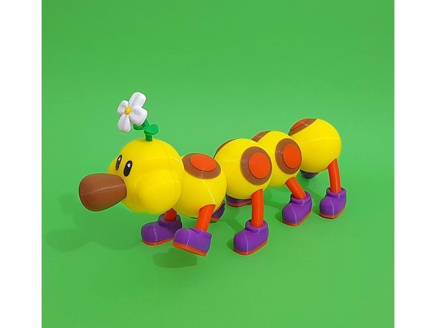 fac4ef5554f69012fe38d2f1d4e245a6_preview_featured.jpg Download free STL file Wiggler from Mario games - multi-color • Template to 3D print, bpitanga