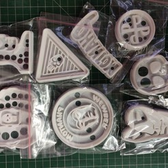 Download 3D printer templates Lot 12 Phantom Ghost Who Walks Cookie Cutters STL, 3dcollectibles