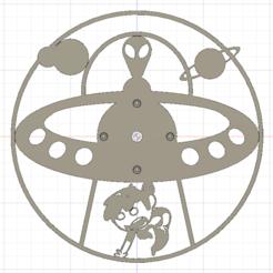 modelo stl gratis SEP 2018 Proyecto OVNI, Reloj Alien3D, Alien3d