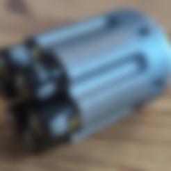 Barillet AA.stl Télécharger fichier STL gratuit Battery barrel case  • Objet à imprimer en 3D, ygallois