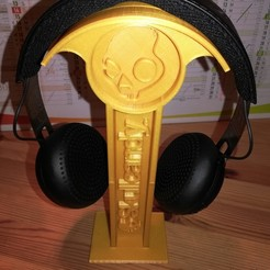 Download free 3D printer templates SkullCandy Headphones stand, ygallois