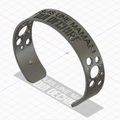 wrist.PNG Download free STL file wrist georgette style mother's day • 3D printer template, ygallois