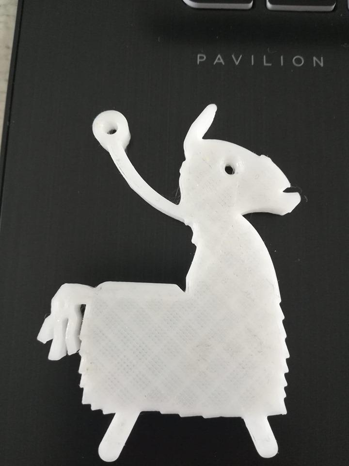 lama.png Télécharger fichier STL gratuit Porte-clés Llama Fortnite • Design à imprimer en 3D, ygallois