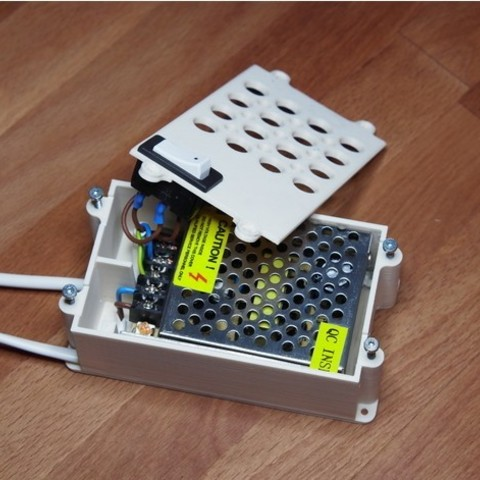 9198d6687fad5e1df94c04bcc54daa7c_preview_featured.jpg Download free STL file Case with switch for 24-36w (12-24v) AC-DC PSU • Design to 3D print, kumekay