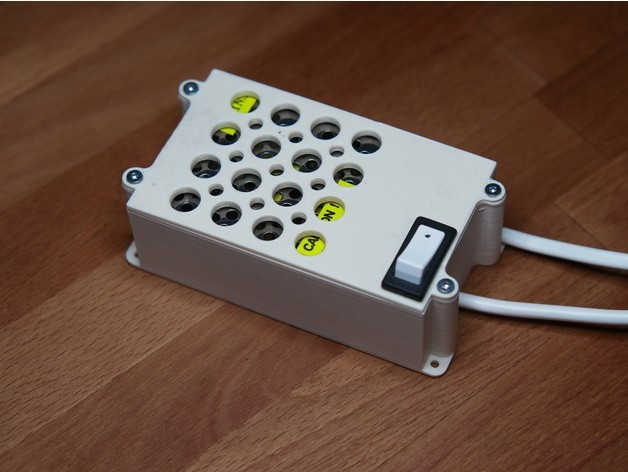 43e6bbd55d459364a20a96c5635bc47b_preview_featured.jpg Download free STL file Case with switch for 24-36w (12-24v) AC-DC PSU • Design to 3D print, kumekay