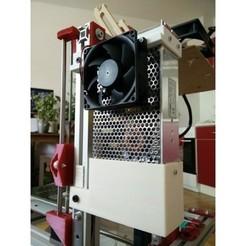 STL gratis Soporte de 250 W PSU con ventilador de 80 mm y conmutador de alimentación con fusible para perfil 3030, kumekay