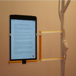 Free 3D model iPad mini holder to IKEA NOT floor lamp (or any 15.5mm tube), kumekay