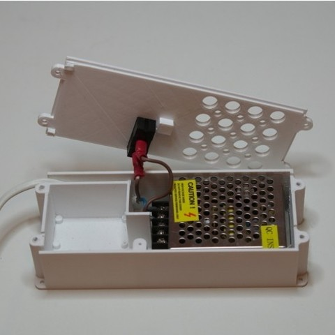Free stl Device case with for 24-36w PSU, LM2596 module, esp8266 module with switch, kumekay
