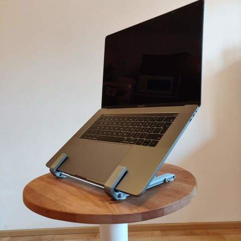"Download free 3D printer designs Macbook Pro Retina 13"" and 15"" desktop stand, kumekay"