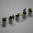 Free 3d printer model Tiny self-watering planter, kumekay