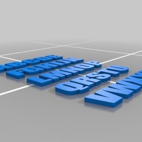 Descargar STL ALFABETO 3D, KEVINKONITZER