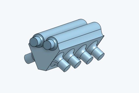Screenshot_1.jpg Télécharger fichier STL gratuit Twin Turbo Inlet Manifold 1/24 • Plan imprimable en 3D, jaxi666