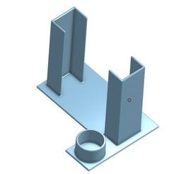 3D printing model Glue Stick Holder for smaller Print Beds, jaxi666